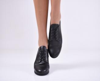 Дамски  обувки естествена кожа черни HCYG-1011055