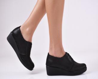 Дамски  обувки естествена кожа черни BIUN-1011056