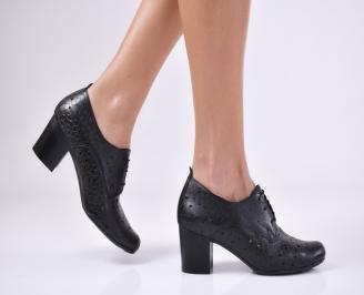 Дамски  обувки естествена кожа черни THXS-1011058
