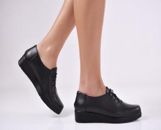 Дамски  обувки естествена кожа черни FPXY-1011059
