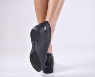 Дамски  обувки естествена кожа черни SBUD-1011060