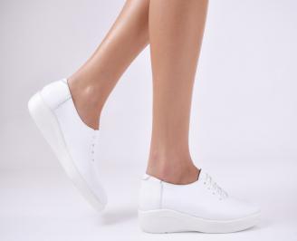 Дамски  обувки  естествена кожа бели CTCX-1011061