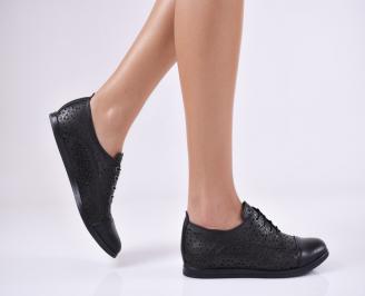 Дамски  обувки естествена кожа черни BROS-1011062
