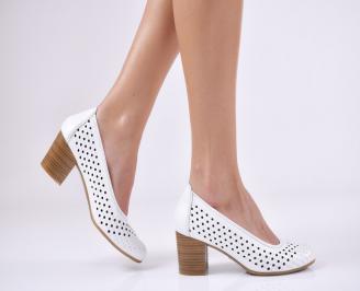 Дамски  обувки естествена кожа бели HJWP-1011064