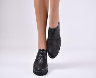 Дамски  обувки естествена кожа черни OGBN-1011066