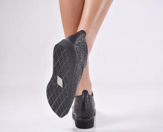 Дамски  обувки естествена кожа черни XRUU-1011068