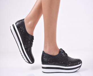 Дамски  обувки естествена кожа черни ZJZU-1011191