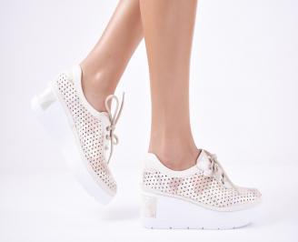 Дамски  обувки естествена кожа бежови VPBC-1011307