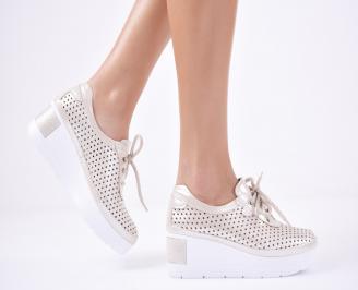 Дамски  обувки естествена кожа бежови XIMY-1011308