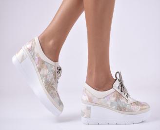 Дамски  обувки естествена кожа бежови QCTO-1011310