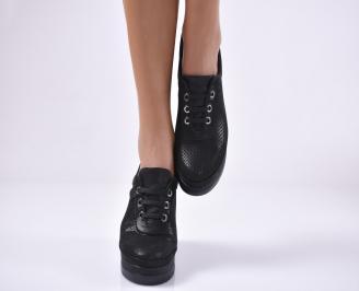 Дамски  обувки естествена кожа черни KMXP-1011312