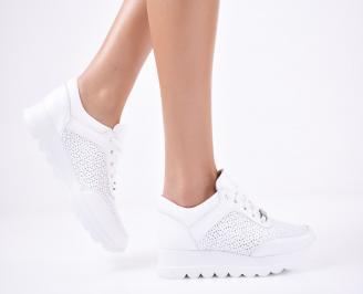Дамски  обувки естествена кожа бели NLTA-1011314