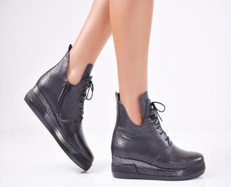 Дамски  обувки естествена кожа черни TTIJ-1011568