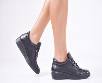 Дамски  обувки естествена кожа черни JZMZ-1011569