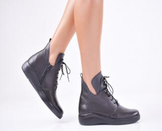 Дамски  обувки естествена кожа черни NRJA-1011570