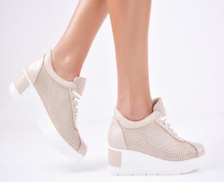 Дамски  обувки естествена кожа бежови QYIT-1011571