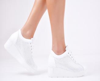 Дамски  обувки естествена кожа бели NXUH-1011572
