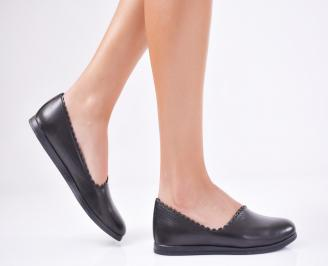 Дамски  обувки естествена кожа черни VDXY-1011578