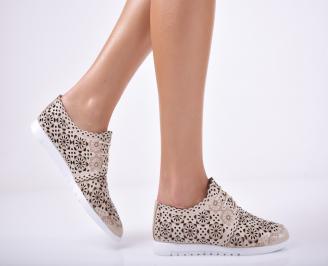 Дамски обувки естествена кожа бежови DEGX-1011682