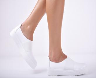 Дамски  обувки естествена кожа бели HYVR-1011686