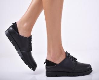 Дамски  обувки естествена кожа черни JAHO-1011688