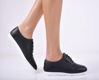 Дамски  обувки естествена кожа черни LDYF-1011694