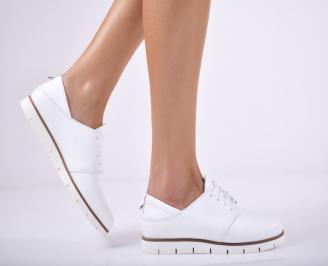 Дамски  обувки естествена кожа бели ARDA-1011695