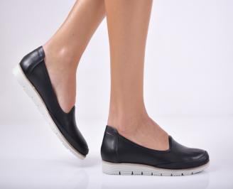 Дамски  обувки естествена кожа черни IFDG-1011699