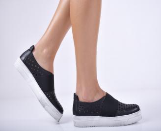 Дамски  обувки естествена кожа черни NXGU-1011700