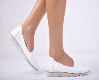 Дамски  обувки естествена кожа бели TEKL-1011702