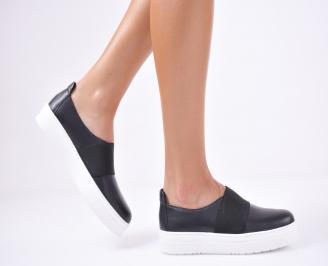 Дамски  обувки естествена кожа черни YUHM-1011703