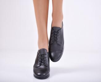 Дамски  обувки естествена кожа черни FLGP-1011735