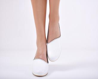 Дамски  обувки естествена кожа бели DOIE-1011736