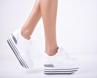 Дамски  обувки естествена кожа бели XDVV-1011747