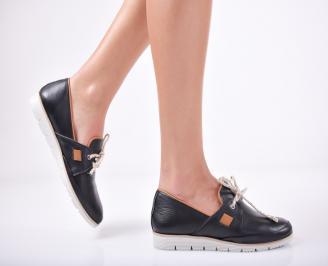 Дамски  обувки естествена кожа черни PKME-1011749