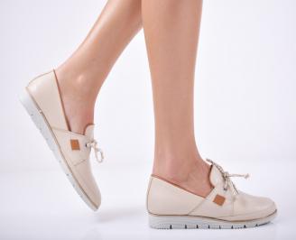 Дамски  обувки естествена кожа бежови WPSC-1011751
