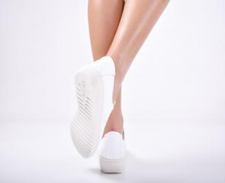 Дамски  обувки естествена кожа бели SGZP-1011752