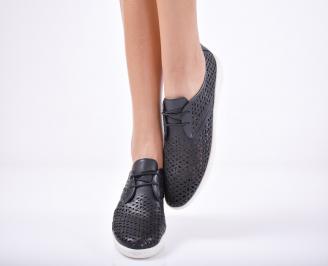 Дамски  обувки естествена кожа черни XRKQ-1011753