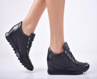 Дамски  обувки естествена кожа черни SOMQ-1011763