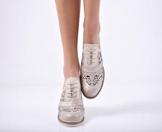 Дамски  обувки естествена кожа бежови HMQC-1011768