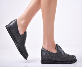 Дамски  обувки естествена кожа черни GYGQ-1011769