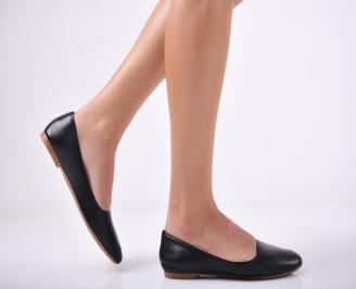 Дамски  обувки естествена кожа черни CZUB-1011841