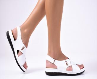 Дамски  обувки естествена кожа бели ECAC-1012219