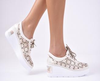 Дамски  обувки естествена кожа бежови RMXB-1012292
