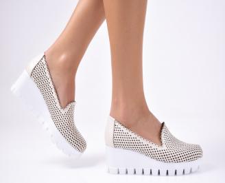 Дамски  обувки естествена кожа бежови HSCY-1012331