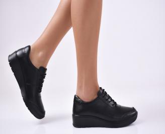 Дамски  обувки естествена кожа черни EDWS-1012788