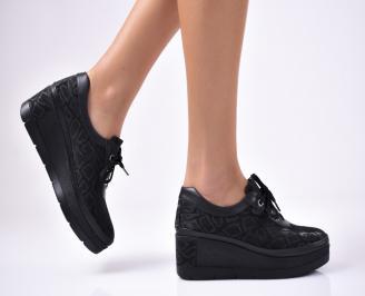 Дамски  обувки естествена кожа черни UVIC-1012858