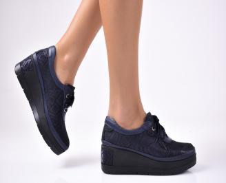 Дамски  обувки естествена кожа сини JQIH-1012862