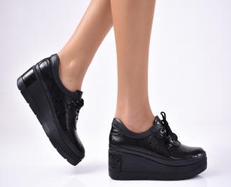 Дамски  обувки естествена кожа черни CZED-1012863