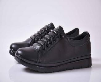 Дамски обувки естествена кожа черни  OINQ-1016000